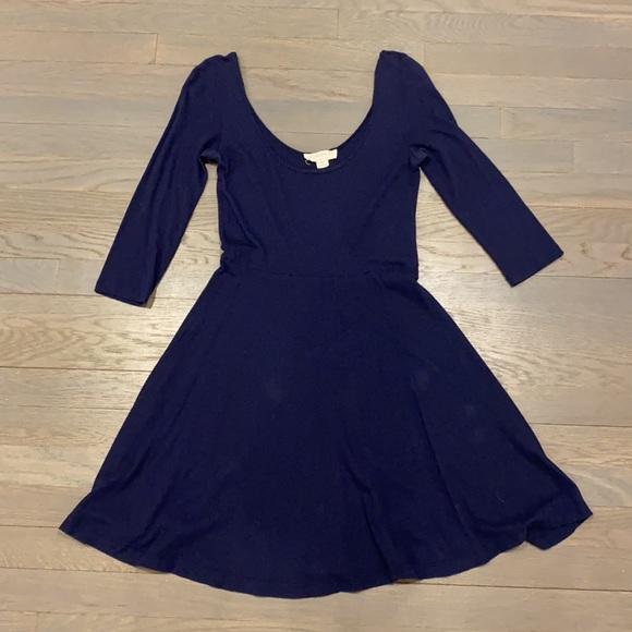 Navy blue skater dress forever 21